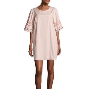 See by Chloe Ruffle Eyelet Sleeve Shift Dress, 8